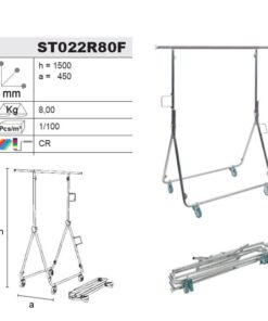Ropa de stands/Colgador de ARTE.M22/80F Plegable