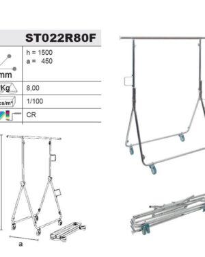Stender/Appendiabiti ART.M22/80F Pieghevole