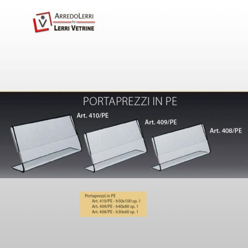 Portaprezzi in Plexiglass ART. 408/PE
