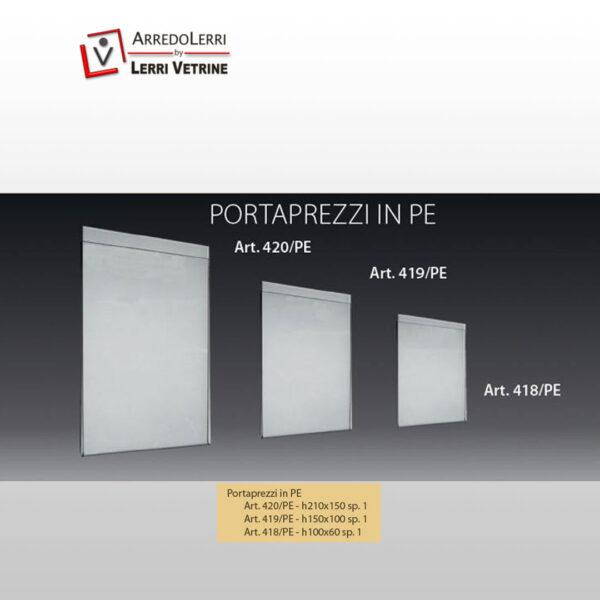 Portaprezzi in Plexiglass ART. 418/PE