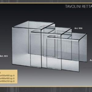 Tavolini Plexiglass Rettagolari