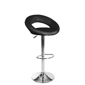 Stool with backrest and artificial leather